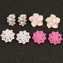 Craft Crystal Rhinestone Buttons Flower Round Cluster Flatback Wedding  Embellishment Jewelry Craft(10pcs  lot 35c8b20b7c1e