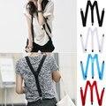 1 PC moda 4 cores Unisex Elastic Y suspensórios clipe ajustável em forma de cintos suspensórios para Vestidos W1