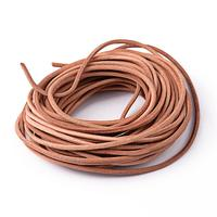 Leather Beading Cord Cowhide Leather DIY Necklace Making Material Peru Size About 3mm Thick About 100m