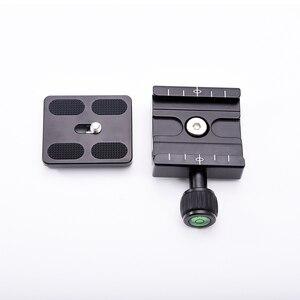 Image 5 - Placa adaptadora de abrazadera cuadrada de QR 50 PU 50 con gradiente para placa de liberación rápida para rótula de bola de trípode Arca Swiss RRS Wimberley