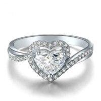 Сердце Cut натуральный бриллиант GIA кольцо для женщин 18 К белого золота 0,40 + 0.30ct GIA Алмаз ручной работы свадебные обручение ювелирные изделия