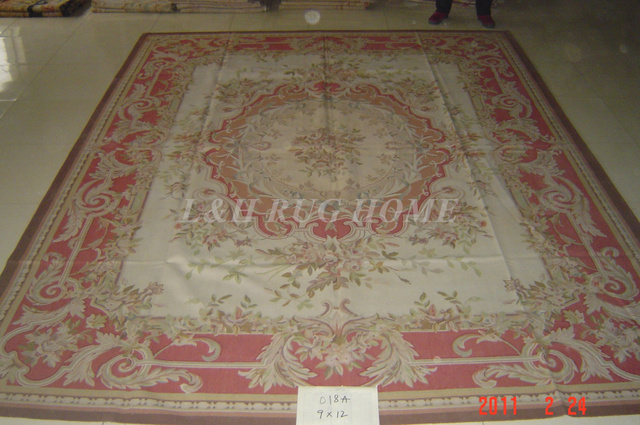 Free Shipping 9 X12 French Aubusson Carpets Hand Knotted Rugs Woolen