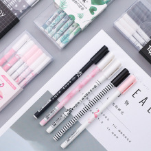 6 pcs/set gel pen Flamingo boligrafo Cute caneta Kawaii gel pens Set kalem canetas material escolar stationary 60 pcs set gel pen caneta material escolar canetas lapices kawaii caneta boligrafo cute kalem unicorn canetas em gel stylo