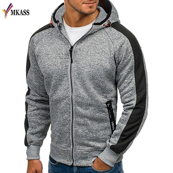 Long Sleeve Hoodies Men Zipper Sweatshirt Hoodies