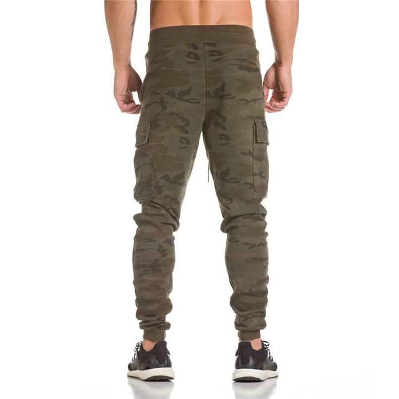 Cotton Men Full Sportswear Pants Casual Elastic Cotton Mens Fitness Workout Pants Sweatpants Trousers Jogger Pant #F40OT31 (15)