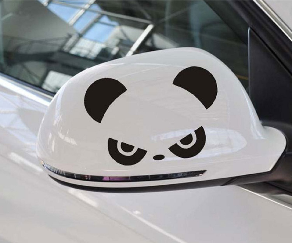 2pcs AG 26 Mosunx Business 2016 Hot Selling Fashion Panda Design 3D Decoration Sticker For Car Side Mirror Rearview