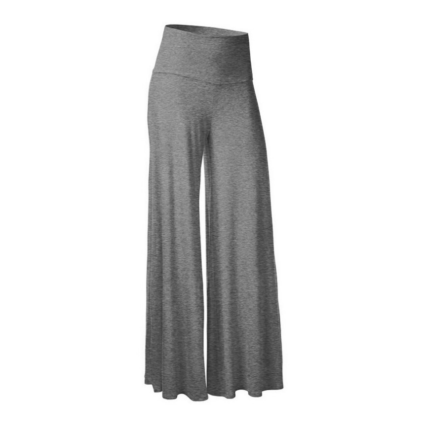 Womens Casual Wide Leg Long Pants Palazzo Trousers S-3X OL Office Loose Stretch