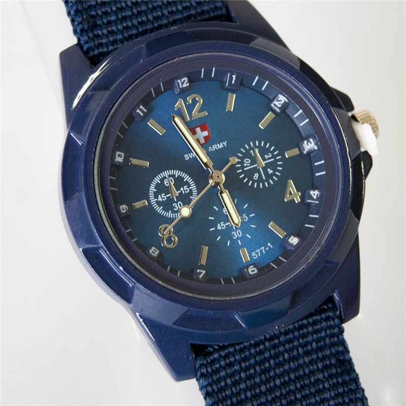 2016 Hot Famous Brand Men Watch Army Soldier Military Canvas Strap Fabric Analog Quartz Wrist Watches Outdoor Sport Wristwatches