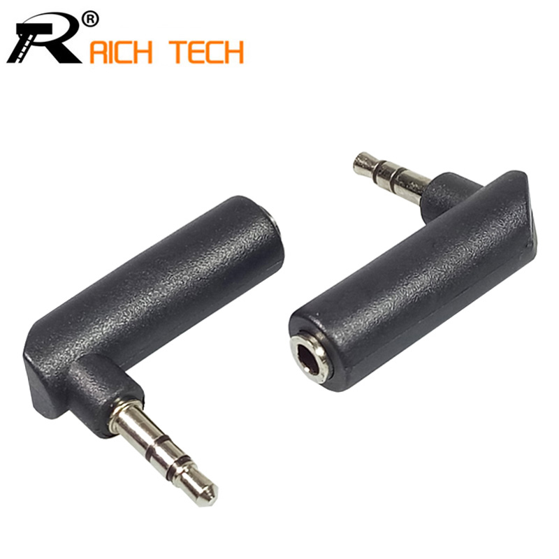 3pcs Nickel-plated Connector 3.5 jack Right Angle Female to 3.5mm 3Pole Male Audio Stereo Plug L Shape Jack Adapter Connector dali zensor 1 ax black ash