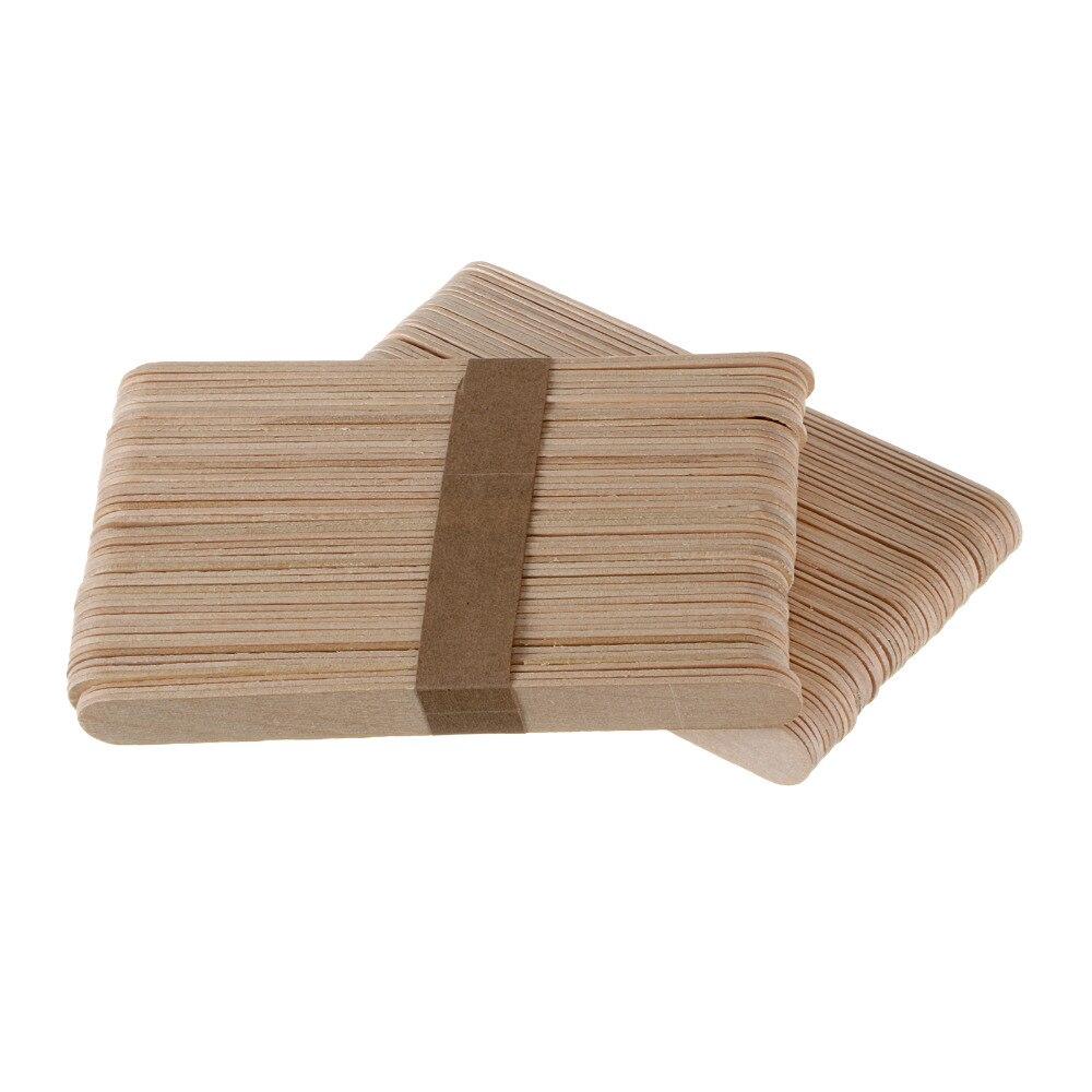 100 stÜcke holz wachsen wachs spachtel zungenspatel einweg bambus