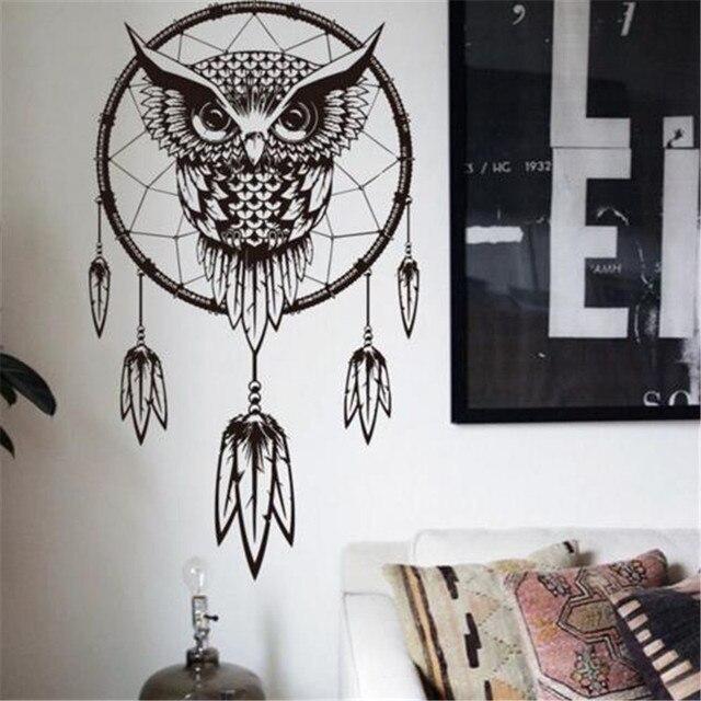 art design indian dream catcher decor diy wall sticker owl decals