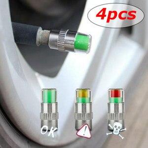 Image 5 - 4 個 36PSI TPMS タイヤ圧力キャップ監視耐久性のある正確な車のタイヤモニタータイヤゲージセンサーインジケータ診断ツールキット