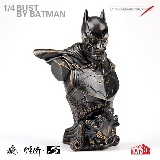 TOYS BOX 1/4 Resin XM Batman Bust Statue Bronze Paint