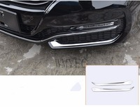 Fit For Honda Accord 2016 2017 ABS Chrome Front Grille Bright Sticker Front Fog Lamp Eyebrow