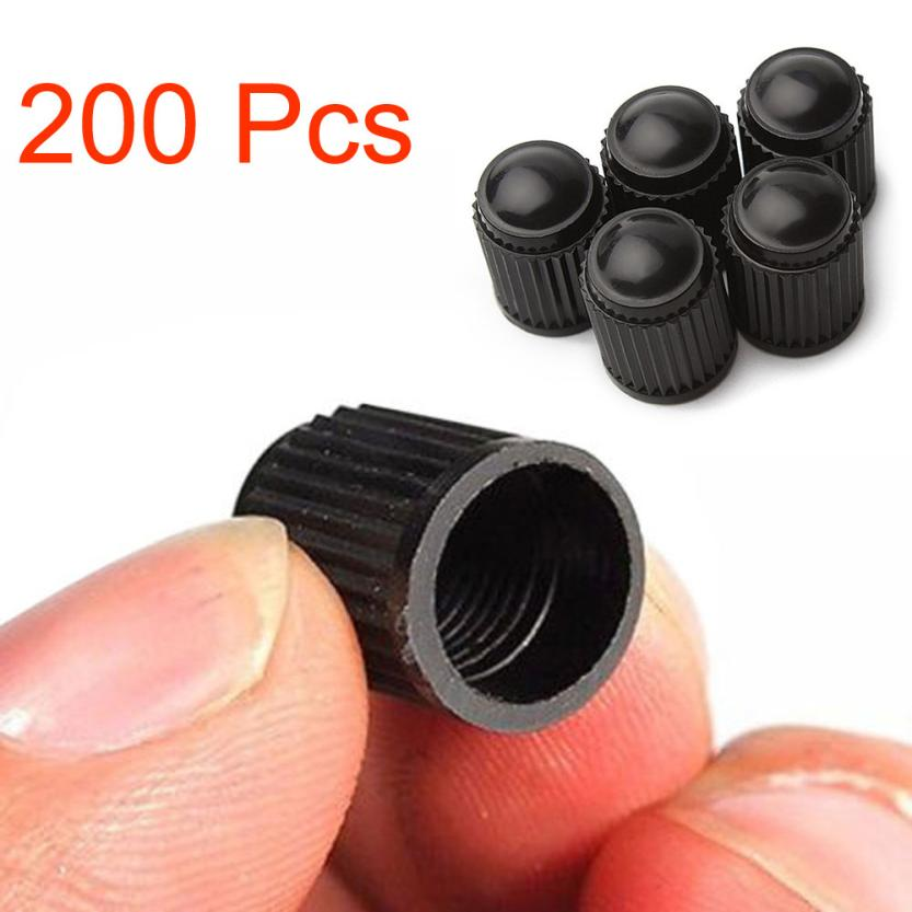 High Quality 200pcs/bag Spare Black Plastic Motorcyle Bicycle Car Tyre Tire Valve Dust Cap Cover 9*13mm/0.35*0.51 Lowest Price