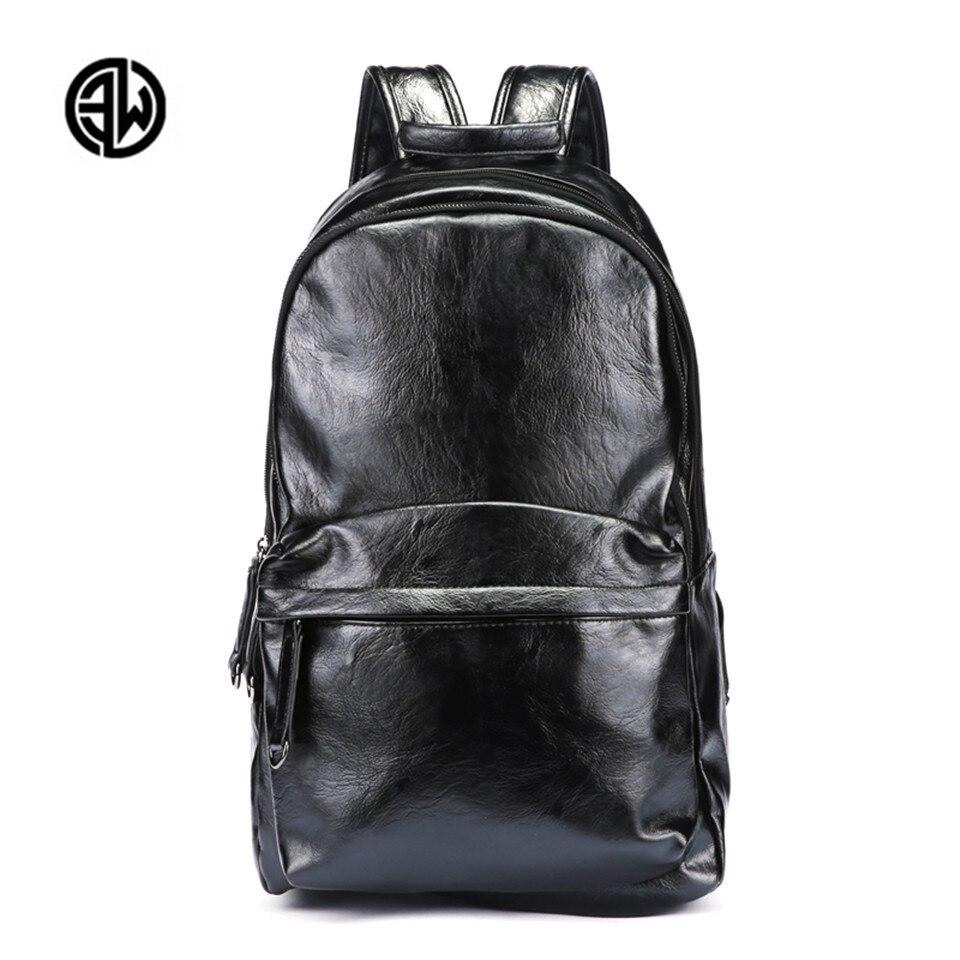 ETONWEAG 2017 New Simple Design Fashion Large Capacity Mens Split Leather Backpack for Travel Men Daypacks School Bag Mochila men backpack student school bag for teenager boys large capacity trip backpacks laptop backpack for 15 inches mochila masculina
