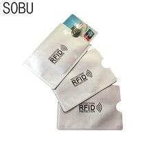 5 шт. Анти RFID Блокировка Reader замок банковской карты держатель ID банковская карта защиты RFID металлический держатель кредитной карты алюминий H042
