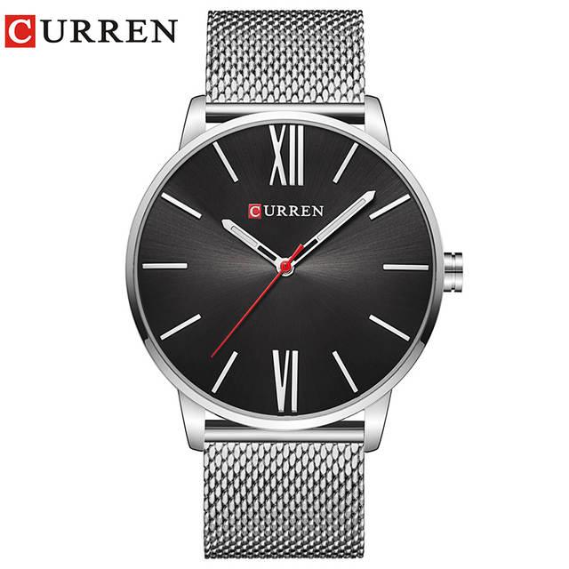 16bb9e47bb3 placeholder CURREN Marca 2017 topos Simples Minimalismo luxo Quartz  Relógios de pulso para homens relogio masculino preto