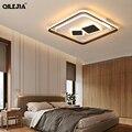 Прямоугольная Светодиодная потолочная люстра  освещение для спальни  гостиной с дистанционным управлением  AC85-260V  домашние светильники  св...