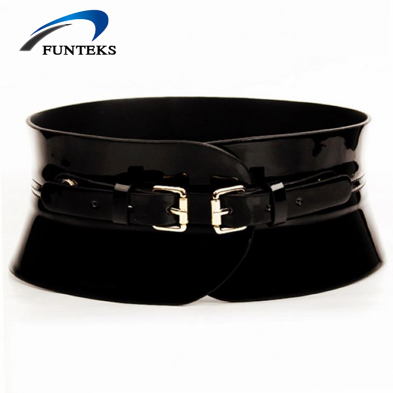 Fantastic DINISITON Womens Fashion PU Leather Lady Wide Waist Wide Waistband Bind Wide Belts Women Belt ...