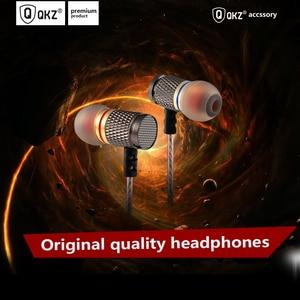 Image 1 - QKZ In Ear Earphone HiFi Metal Heavy Bass Sound Quality Music Professional Mobile Phone  Earphone Headset for huawei xiaomi