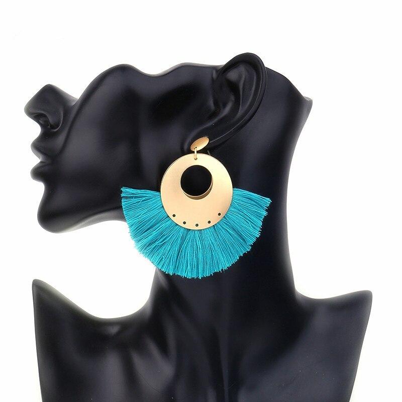 Badu crvene naušnice u obliku cipela Žene boemske teške zlatne - Modni nakit - Foto 4
