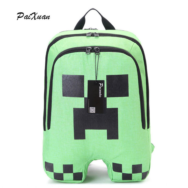 845b54abf7 Teenager MineCraft Cartoon Backpack Boy Cartoon School Bags Hot Primary Backpack  School Bags for Boys and Girl Mochila Sac A Dos