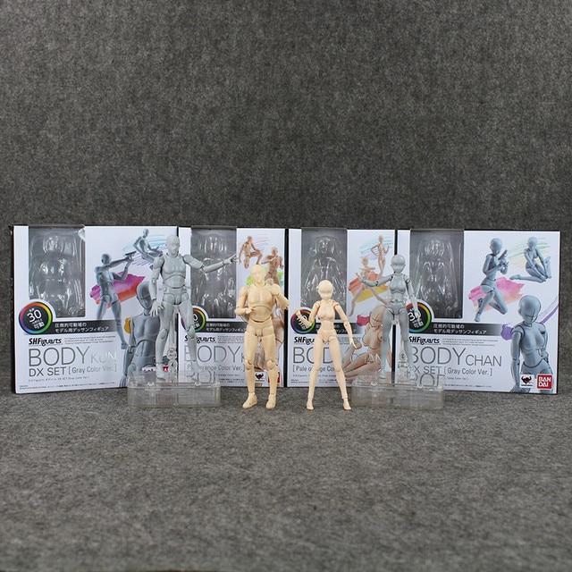 SHFiguarts BODY KUN / BODY CHAN Grey / Orange Color Ver. PVC Action Figure Collectible Model Toy