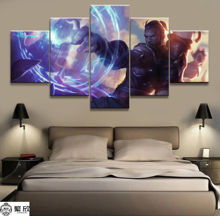5 Panel LOL League of Legends Ryze  Game Canvas Printed Painting For Living Room Wall Art Decor HD Picture Artworks Poster
