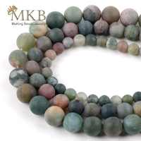 Natural Stone Dull polish Matte India Agates Round Beads For Jewelry Making 6/8/10/12mm Diy Loose Beads Accessories Wholesale