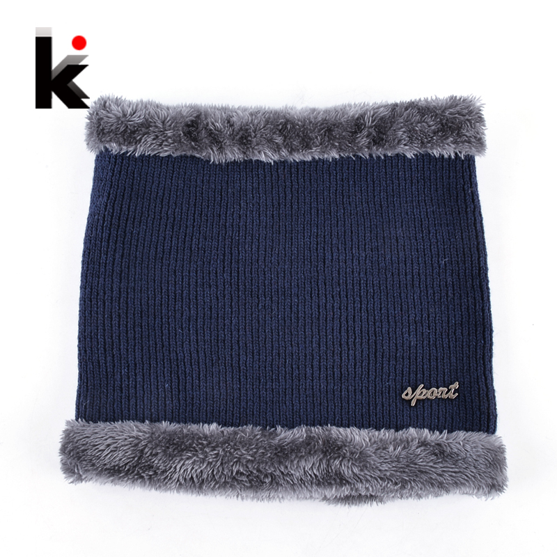 Winter Knitted Face Mask For Men And Women Outdoor Sports Muffler Scarf Set Add Velvet Thick Snow Skullies Beanie Hat Knit Cap a set of chic rhombus pattern color block knitted hat scarf and gloves for women