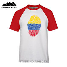 0f462ddc7fc National Day Best Clothes Original Country Style Male T shirt Colombia Flag  Fingerprint Father's Day Gift Men T-shirt Top Tshirt