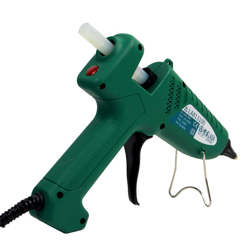 Image 3 - LAOA 25W/100W Hot Melt Glue Gun Pistolet a colle Mini For Metal Wood Working Stick Paper Hairpin  PU Flowers With EU plug-in Glue Guns from Tools on
