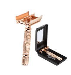 Men's Shaving Razor Double Edge Safety Razor Zinc Alloy Safety Razor Classic For Men 1 Razor 1 Blade 1 Case Shaver set 17