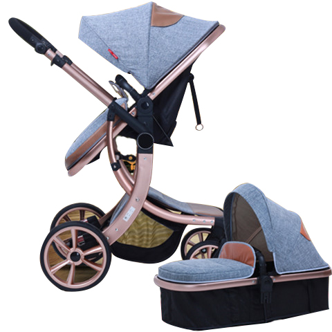 2 in 1  Baby Stroller Light Folding Two-way Shock Absorbers Baby Stroller with Four Wheel Accessories European Baby Strollers