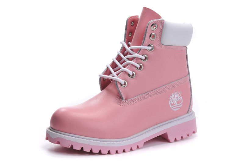 TIMBERLAND Women Classic 10061 Light Pink Spring/Autumn Martin Boots,Woman Popular High Top Solid Color Leather Ankle Shoes  1