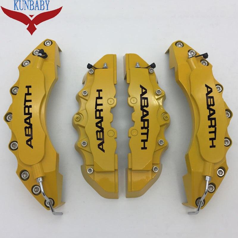 KUNBABY jaune couvercle d'étrier de frein modèle 7 noir ABARTH Logo décoration de style de voiture pour Abarth avec 18 ''et plus