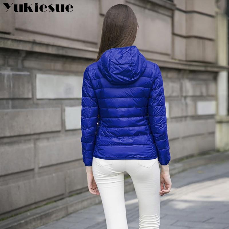 90 % White duck down Winter jackets Womens Slim Hooded Parkas Jackets Woman Warm Parkas Coat girl down Light female overcoat