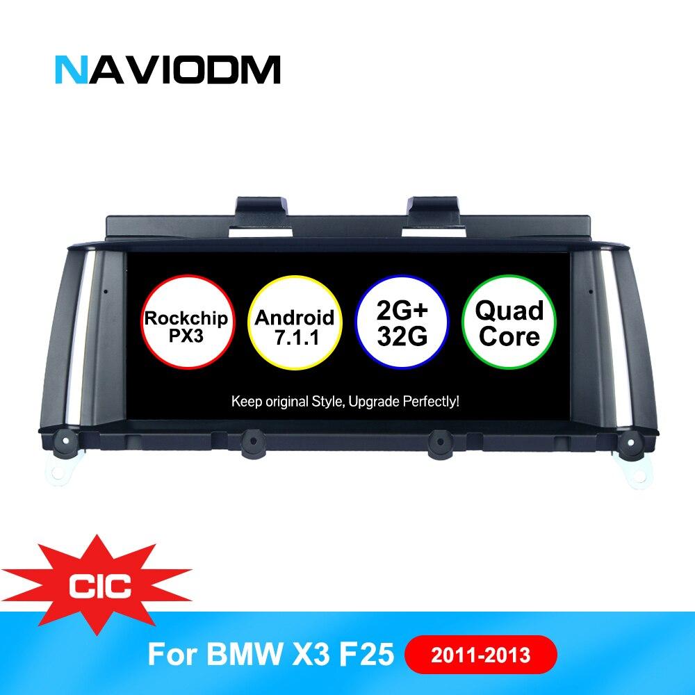 Android 7.1 Auto Lecteur Multimédia De Voiture Pour BMW X3 F25 (2011-2013) x4 F26 (2011-2013) D'origine CIC SystemGPS BT DVR TMPS DAB