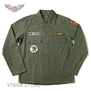 NON STOCK OG-107 Utility Fatigue Shirt Men's WW2 US Army Military Uniform Jacket(China)