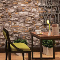 Beibehang Retro Vintage Brick Wallpaper Antique Restaurant Bar Cafe Clothing Store Culture Papel De Parede Stone