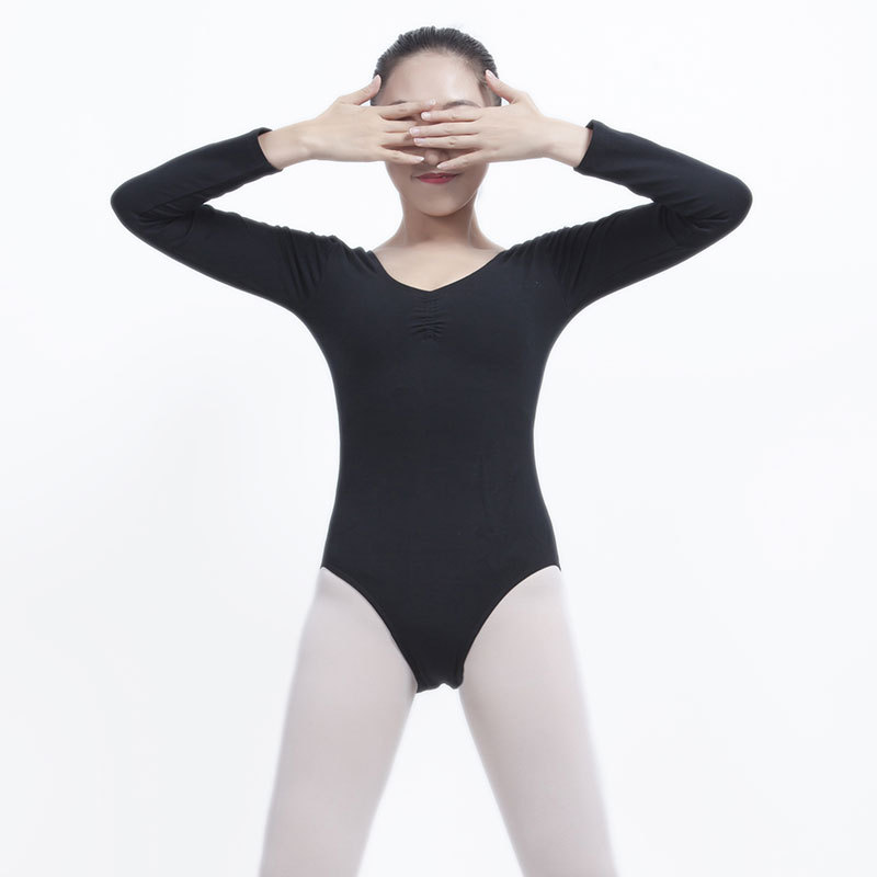 Ballet Leotards Long Sleeve V-neck Gymnastics Leotards For Adult Ballet Leotards For Women Dance Bodysuit Bailarina Costume