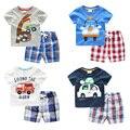 The boy short sleeved T-shirt Shorts Set 2017 New Kids Summer Summer baby two U5740