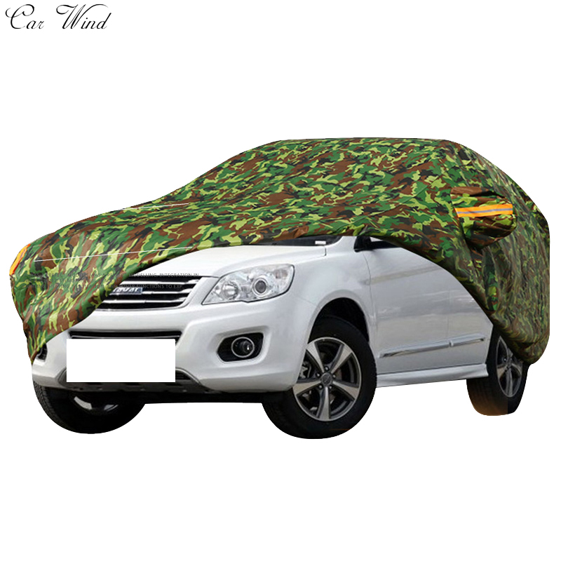Car wind Oxford waterproof car covers outdoor cotton sun protection dust rain snow protective suv sedan hatchback cover for car