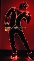 Led light dress włókna-optyczne taniec kostium mężczyzna led garnitury