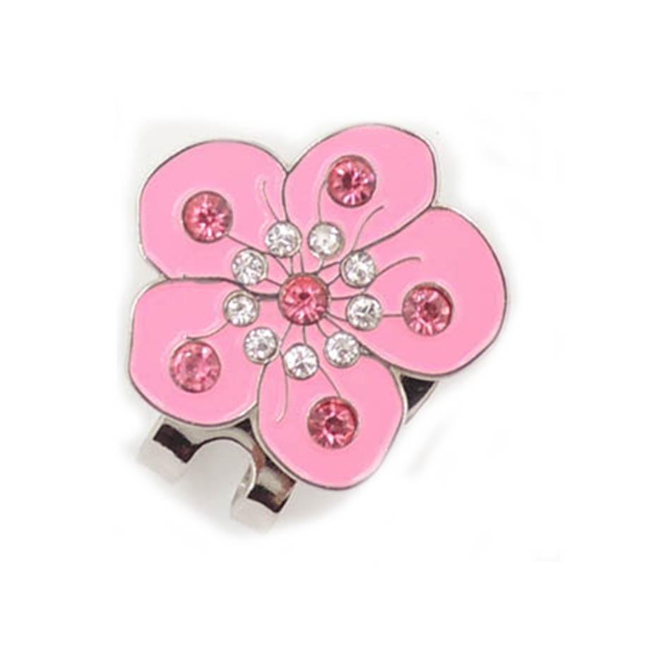 golf hat clip golf clip marker flower
