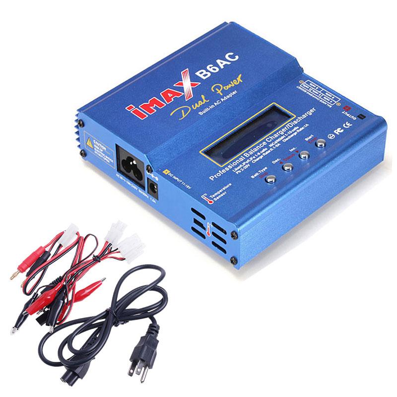 Prix pour 80 W Équilibre RC Chargeur B6AC Dual Power Lipo Lithium NiMH RC Équilibre de La Batterie Chargeur Déchargeur pour Hélicoptère Bateau Voiture jouet