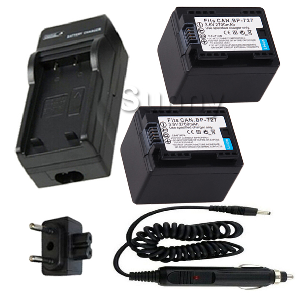 ФОТО Battery 2-Pack and Charger Kit for Canon BP-709, BP-718, BP-727 and Canon LEGRIA HFR36 HFR38 HFR306,HFM52,HFM56,HFM506 Camcorder