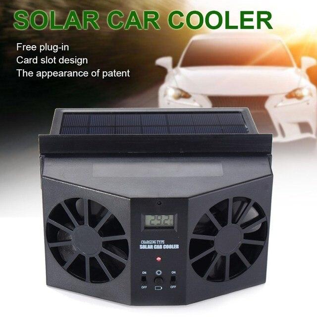 Kroak Solar Ed Car Fun Auto Window Air Vent Dual Fan Exhaust Gills Ventilation System