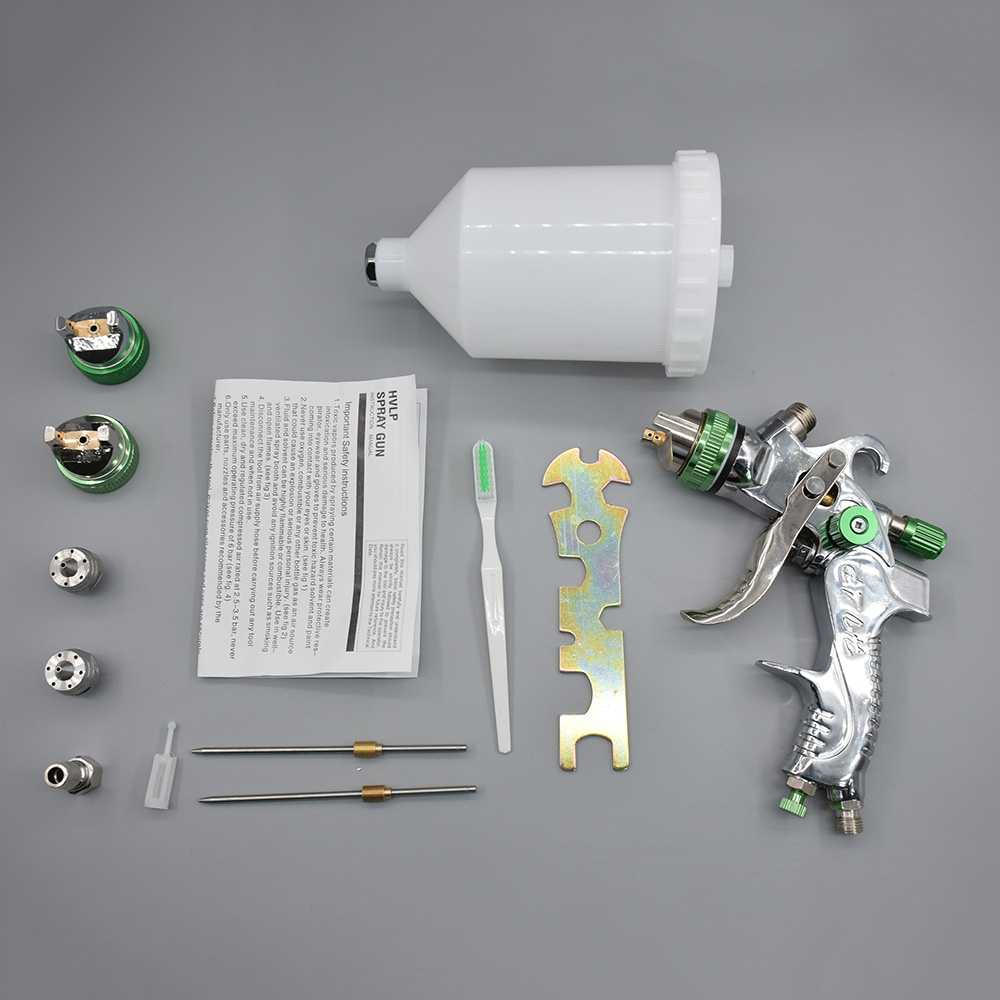 Spray Gun Set 1.4mm 1.7mm 2.0mm Steel Nozzle HVLP Paint Cars Painting Furnitures DIY Painting Kit Car Auto Repair Tool